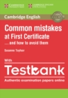 Common Mistakes at First Certificate... and How to Avoid Them Paperback with Testbank - Book