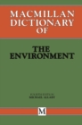 Macmillan Dictionary of the Environment - eBook