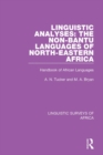 Linguistic Analyses: The Non-Bantu Languages of North-Eastern Africa : Handbook of African Languages - eBook