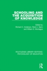 Schooling and the Acquisition of Knowledge - eBook