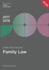 Core Statutes on Family Law 2017-18 - Book