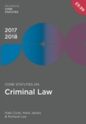 Core Statutes on Criminal Law 2017-18 - Book