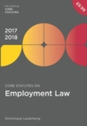 Core Statutes on Employment Law 2017-18 - Book