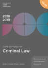 Core Statutes on Criminal Law 2018-19 - Book