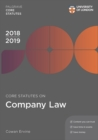 Core Statutes on Company Law 2018-19 - Book