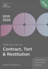 Core Statutes on Contract, Tort & Restitution 2019-20 - Book