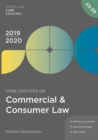 Core Statutes on Commercial & Consumer Law 2019-20 - Book