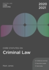 Core Statutes on Criminal Law 2020-21 - Book