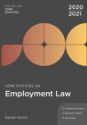 Core Statutes on Employment Law 2020-21 - Book
