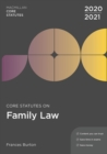 Core Statutes on Family Law 2020-21 - Book