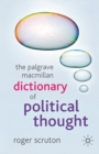 The Palgrave Macmillan Dictionary of Political Thought - Book