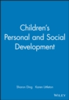 Children's Personal and Social Development - Book