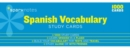 Spanish Vocabulary SparkNotes Study Cards - Book