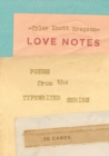 Love Notes: 30 Cards (Postcard Book): Poems from the Typewriter S : Poems from the Typewriter Series - Book