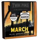 March Twin Pins : Two Enamel Pins - Book