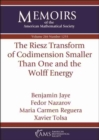 The Riesz Transform of Codimension Smaller Than One and the Wolff Energy - Book