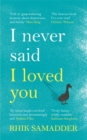 I Never Said I Loved You - Book