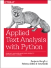 Applied Text Analysis with Python - Book