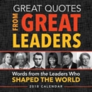 2018 Great Quotes from Great Leaders Boxed Calendar - Book