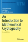 An Introduction to Mathematical Cryptography - Book