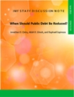 When Should Public Debt Be Reduced? - eBook