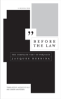 Before the Law : The Complete Text of Prejuges - Book