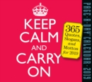 2019 Keep Calm and Carry on Page-A-Day Calendar - Book