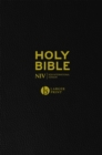 NIV Larger Print Black Leather Bible - Book
