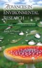 Advances in Environmental Research : Volume 57 - Book