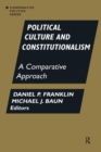 Political Culture and Constitutionalism: A Comparative Approach : A Comparative Approach - Book