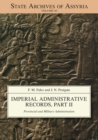 Imperial Administrative Records, Part 2 : Provincial and Military Administration - Book