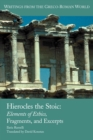 Hierocles the Stoic : Elements of Ethics, Fragments, and Excerpts - Book
