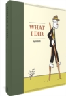 What I Did - Book