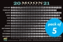 2021 Moon Calendar Card (5 Pack) : Lunar Phases, Eclipses, and More! - Book