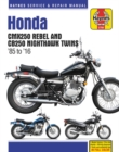 Honda Cmx250 Rebel and Cb250 Nighthawk, 1985-2016 Haynes Repair Manual - Book