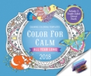 Color for Calm All Year Long 2018 : Box Calendar with Colored Pencils attached to Base - Book