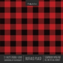 Buffalo Plaid Scrapbook Paper Pad 8x8 Decorative Scrapbooking Kit for Cardmaking Gifts, DIY Crafts, Printmaking, Papercrafts, Red & Black Check Designer Paper - Book