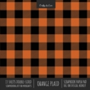 Orange Plaid Scrapbook Paper Pad 8x8 Decorative Scrapbooking Kit for Cardmaking Gifts, DIY Crafts, Printmaking, Papercrafts, Check Pattern Designer Paper - Book