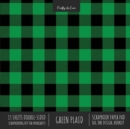 Green Plaid Scrapbook Paper Pad 8x8 Decorative Scrapbooking Kit for Cardmaking Gifts, DIY Crafts, Printmaking, Papercrafts, Check Pattern Designer Paper - Book