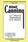 Home Canning Of Fruits, Vegetables, And Meats (Legacy Edition) : Classic USDA Farmers' Bulletin No. 1762 - Book