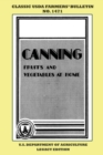 Canning Fruits And Vegetables At Home (Legacy Edition) : Classic USDA Farmers' Bulletin No. 1471 - Book