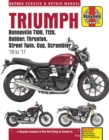 Triumph Bonneville, T100, T120, Bobber, Thruxton, Street Twin, Cup, Scrambler Service & Repair Manual (2016 to 2017) - Book