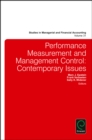 Performance Measurement and Management Control : Contemporary Issues - Book