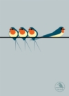I Like Birds: Swallows On a Line Hardback Notebook - Book