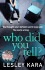 Who Did You Tell? : From the bestselling author of The Rumour - Book