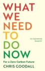 What We Need to Do Now : For a Zero Carbon Future - Book
