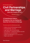 Civil Partnerships And (same Sex) Marriage - Book