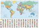 Philip's RGS World Wall Map (with Flags) : Laminated - Book