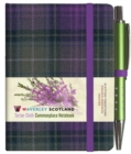 Heather Tartan: Mini Notebook with Pen: 10.5 x 7cm: Scottish Traditions: Waverley Genuine Tartan Cloth Commonplace Notebook - Book