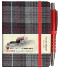 Castle Grey Tartan: Mini with Pen: 10.5 x 7.5cm: Scottish Traditions: Waverley Genuine Tartan Cloth Commonplace Notebook - Book